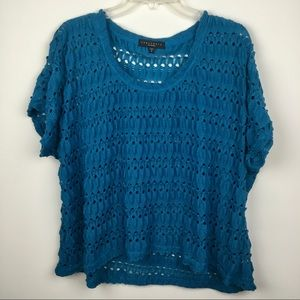 Sanctuary open knit oversized top small
